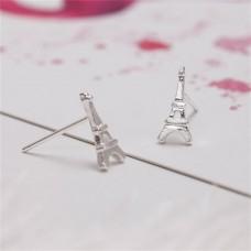 Сребърни обеци - Айфелова кула снимка