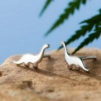 Сребърни обеци - Динозавър