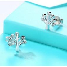 Сребърни обеци - дърво на живота Ежедневни обеци изображение