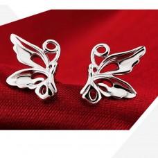 Сребърни обеци - Изящната пеперуда Ежедневни обеци изображение