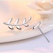 Сребърни обеци - Клонче микс снимка