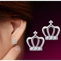 Сребърни обеци - Кралска корона