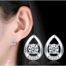 Сребърни обеци - Кристалине