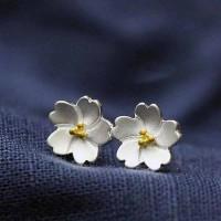 Сребърни обеци - Орхидея