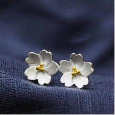 Сребърни обеци - Орхидея Ежедневни обеци изображение