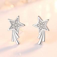 Сребърни обеци - Падаща Звезда Ежедневни обеци изображение