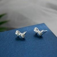 Сребърни обеци - Панделка