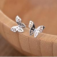 Сребърни обеци - Пеперуда