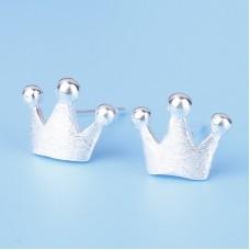 Сребърни обеци - Принцеса Ежедневни обеци изображение