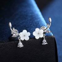 Сребърни обеци - Пролетен цвят