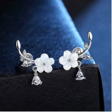 Сребърни обеци - Пролетен цвят снимка