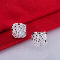 Сребърни обеци - Роза