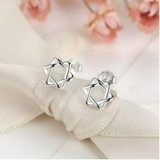 Сребърни обеци - Супер звезда снимка