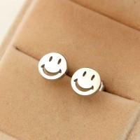 Сребърни обеци - Усмивка
