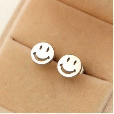 Сребърни обеци - Усмивка снимка