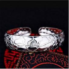 Сребърна гривна - Лотус Гривни изображение