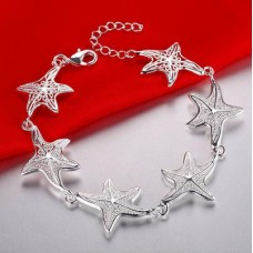 Сребърна гривна - Морска Звезда снимка