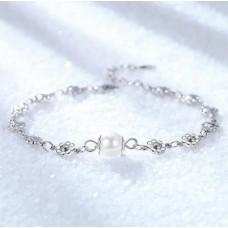 Сребърна гривна - Снежанка 925 печат сребро