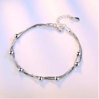Сребърна гривна - Топчета 925 печат сребро