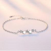 Сребърна гривна - Звездички 925 печат сребро