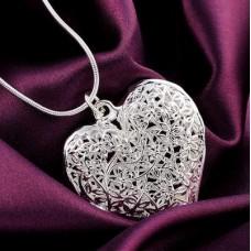 Сребърен медальон - Сърце