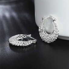 Сребърни обеци Халки - Десперанса снимка