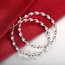 Сребърни обеци - Халки Касиопея снимка