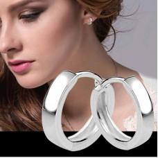 Сребърни обеци - Мини Халки Класик Обеци халки изображение