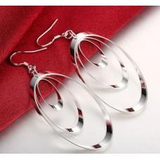 Сребърни обеци - Трио Халки Обеци халки изображение