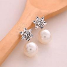 Сребърни обеци - Белисима Обеци с перли изображение
