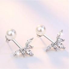 Сребърни обеци - Перла Амазонка Обеци с перли изображение