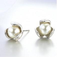 Сребърни обеци - Перла разкош снимка