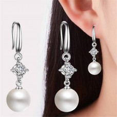 Сребърни обеци - Перли Финес Обеци с перли изображение