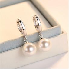 Сребърни обеци - Верона Обеци с перли изображение
