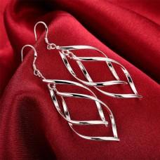 Сребърни обеци - Елегант къдрици снимка