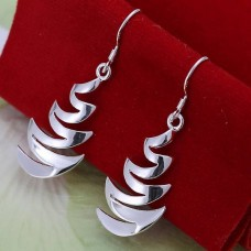 Сребърни обеци - Ескалейт снимка
