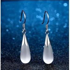 Сребърни обеци - Кристал снимка